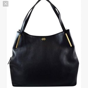 Vince Camuto Black and Gold Ike Purse